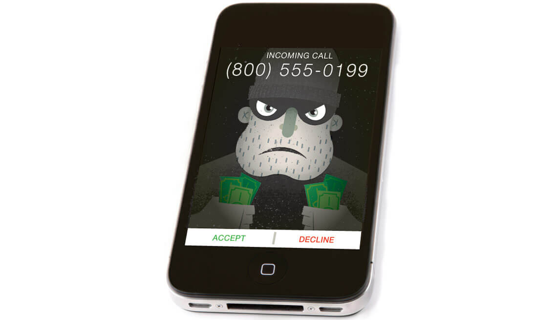 phone scammer